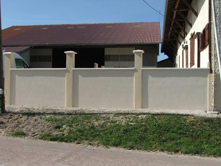 cr ation d 39 un mur de cloture sarl simode brisson maconnerie renovation aube brienne le chateau. Black Bedroom Furniture Sets. Home Design Ideas